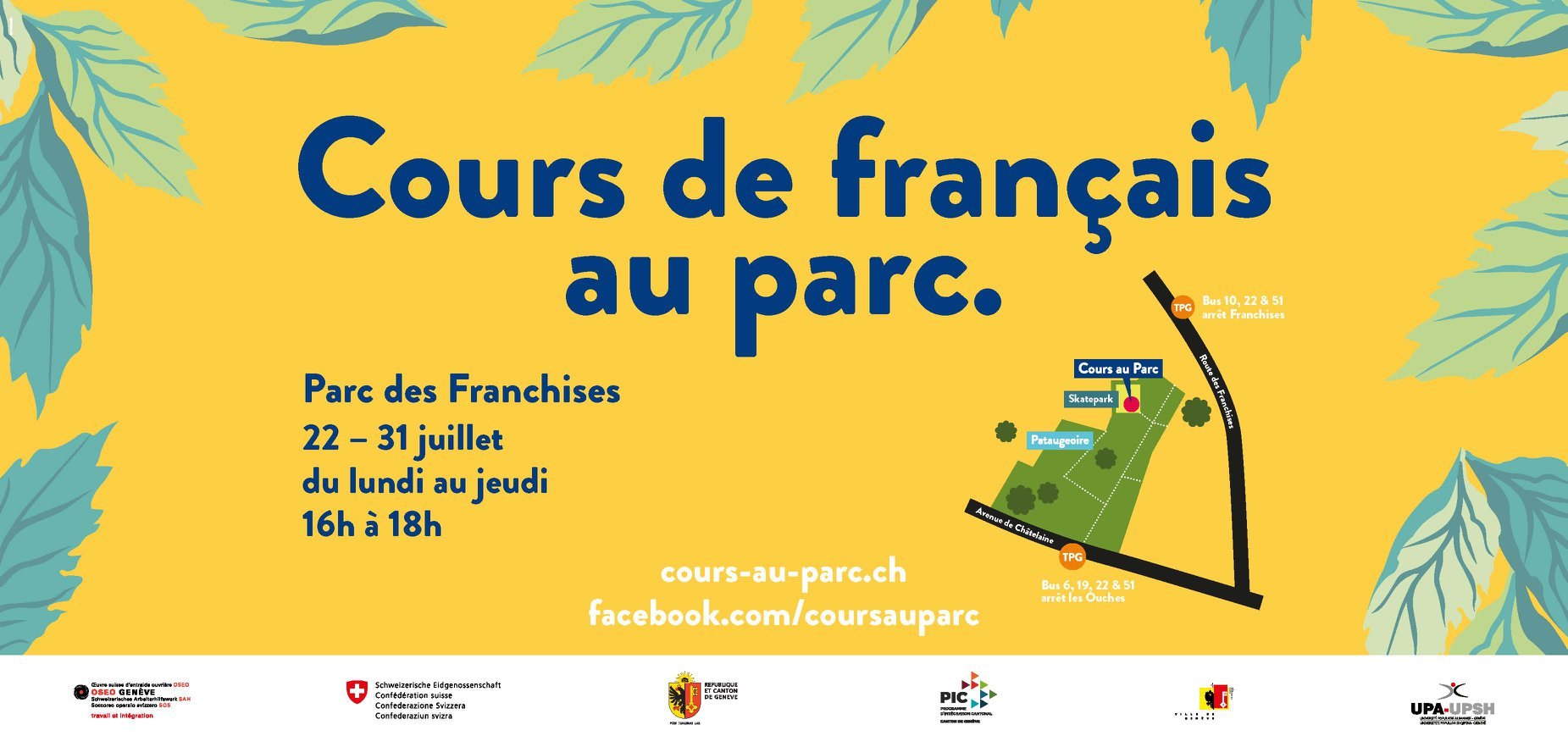 Cours de français au parc