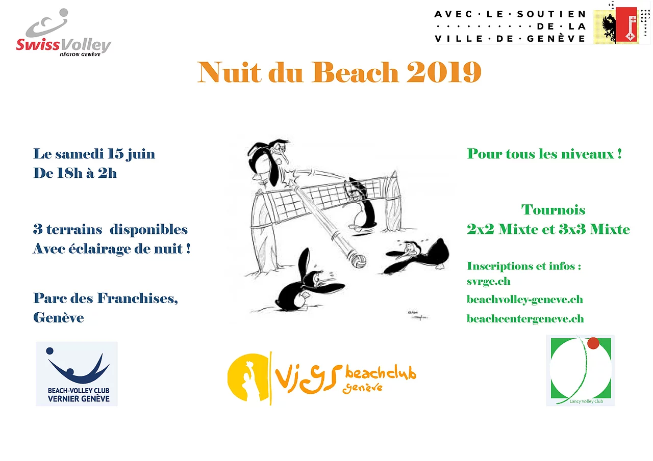 Nuit du beach-volley 2019