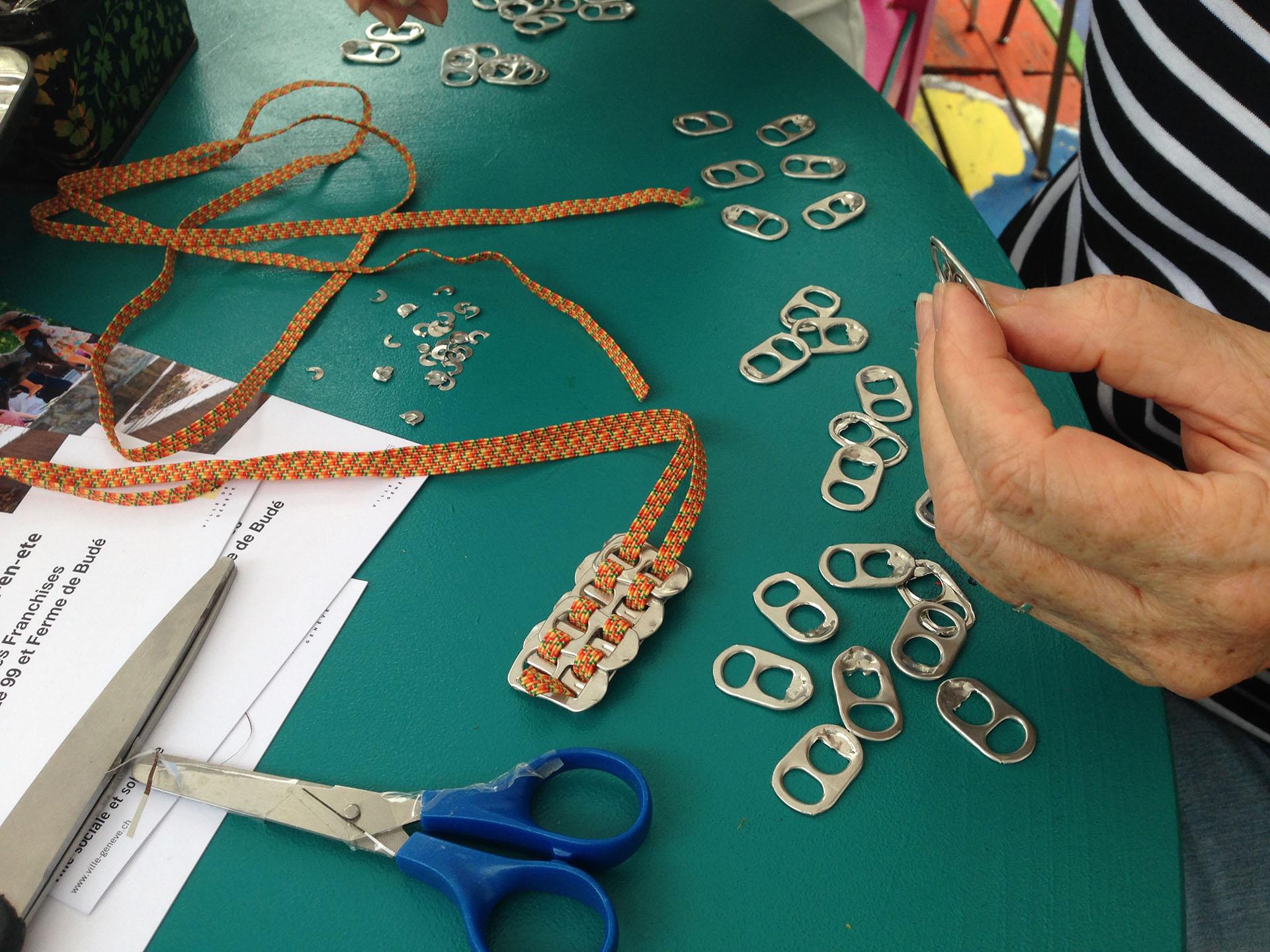 Atelier de couture recyclage